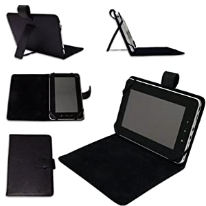"Time2® 7"" Inch Leather Look Case (WITH STAND) For Protection Of Your 7"" Tablet PC Pad Device. by Time2"