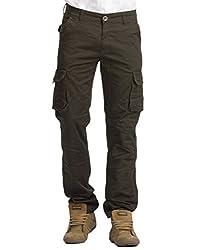 Krystle Dark Grey Men's Cotton Cargo Pants