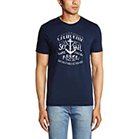 Arrow Sports Men's Cotton T-Shirt  (8907259344904_AKQS7979_Large_Navy)