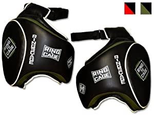 Deluxe Muay Thai Thigh Guard for Muay Thai, MMA, Kickboxing by Ring to Cage