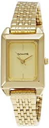 Sonata Analog Gold Dial Womens Watch - NF8067YM02