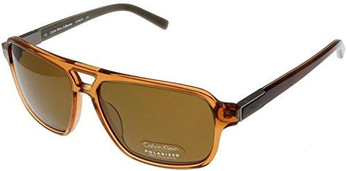 Calvin Klein Sunglasses Men Whisky Polarized Aviator CK7857SP 210B