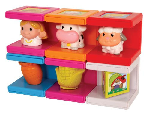 Safety First Cubikals Stack 'n Play 6 Block Set - Farm Set 4 - 1