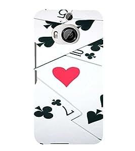 PrintVisa Love Hearts Design 3D Hard Polycarbonate Designer Back Case Cover for HTC ONE M9+