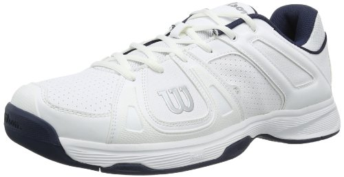 Wilson TEAM M WHITE/WHITE/MIDNIGHT NAVY 13.5 WRS318030E135 Herren Tennisschuhe
