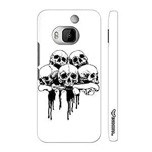 Htc One M9 Plus Skull 'N Bone designer mobile hard shell case by Enthopia