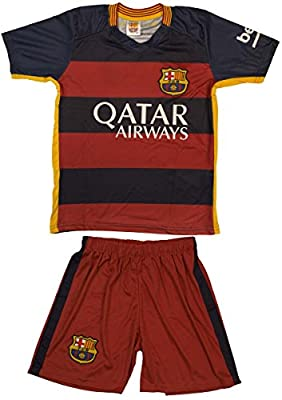 2015/2016 Barcelona Lionel Messi #10 Home Football Soccer Jersey & Shorts Youth Sizes