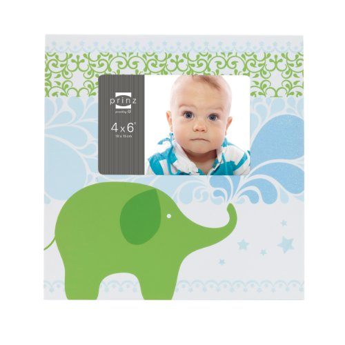 Prinz Adorable Elephant Frame, 6-Inch by 4-Inch - 1