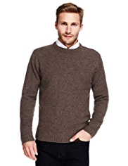 2in Longer Crew Neck Knitted Jumper