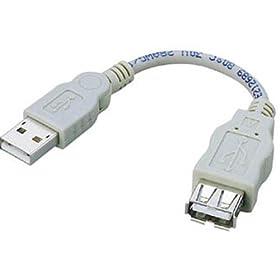 ELECOM USB2.0スイングケーブル USB(A)オス-USB(A)メス 0.05m USB-SEA01