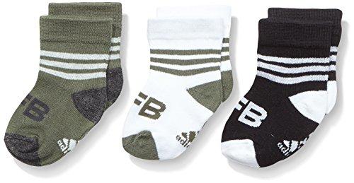 Adidas bambini 1paio di calze DFB, Bambini, Socken 1 Paar DFB, Black/Base Green S15/White, 23-26