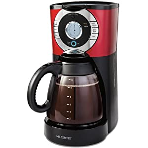 Amazon.com: Mr. Coffee EJX36 12-Cup Programmable Coffeemaker, Red: Drip Coffeemakers: Kitchen ...