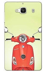 Iessential Bike Designer Printed Back Case Cover For Mi Redmi 2