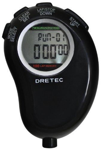 DRETEC (ドリテック) トラックギア 1 / 100 sec stopwatch mass memory black SW-115BK
