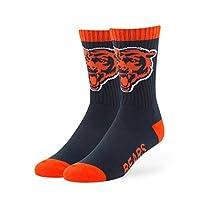 NFL Chicago Bears Men's '47 Bolt Casual Dress Crew Socks, Navy, Medium, 1-Pack