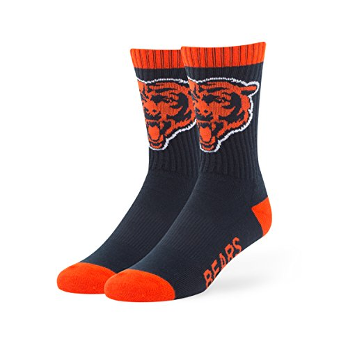 NFL Chicago Bears Men's '47 Bolt Casual Dress Crew Socks, Navy, Medium, 1-Pack (Chicago Bears Womens Hoodie compare prices)