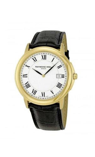 Raymond Weil Tradition White Dial Gold-Plated Mens Watch 5466-1PC-00300