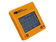 Pocket oscilloscope with color display, touch panel and battery by JYE Tech
