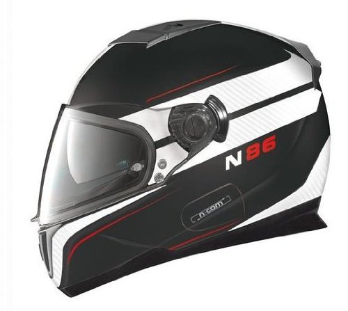 Nolan N86 Rapid Flat Black/White Full Face Motorcycle Helmet