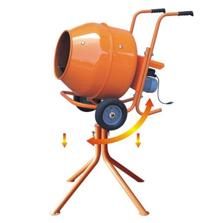 Quality Portable Concrete Cement Mixer With Wheels And Stand 240v