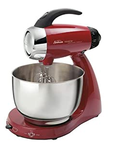 Sunbeam 2349-030 Heritage Series 12-Speed Stand Mixer, Red