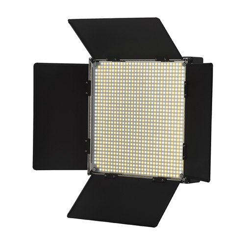 Iled 900 Led Bi-Color Changing Dimmable Video Light Panel W/ V-Mount Battery Plate And Barndoors