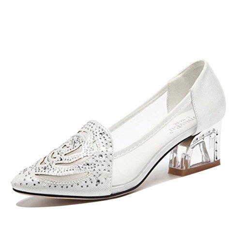 2016Sandales d'été/chaussures pointues/Strass chaussures en mesh respirant/Les souliers