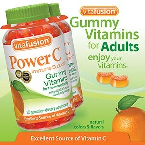 Vitafusion Power C, Gummy Vitamins For Adults, 150-Count, Pack Of Two