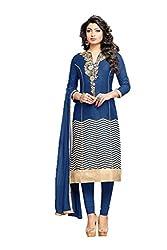 Bankcroft Women's Attractive Blue Cotton Dress(Prince-9)