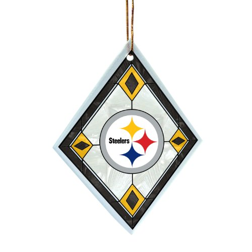 NFL Pittsburgh Steelers Art Glass Ornament at SteelerMania