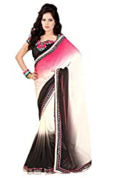 Bikaw Women's Georgette Saree (RS_Maira_1401_Multicolor_Free Size)