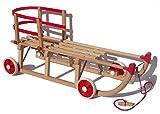 Orig. Roll Rodel - der Holzschlitten mit Rädern zum Einsatz...