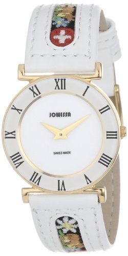 Jowissa Roma Ethno Women's Quartz Watch with White Dial Analogue Display and White Leather Strap J2.035.M
