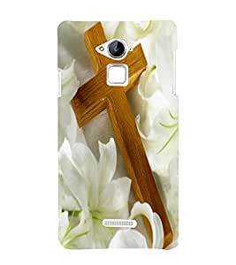 Vizagbeats cross on lillies Back Case Cover for Coolpad Note 3
