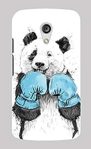 Back Cover for Moto G (2nd Gen) Boxing Panda