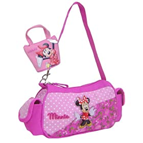 Minnie Mouse Pink Girls Mini Handbag Bonus Coin Purse