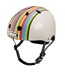 Nutcase Rainbow Stripe Bike Helmet, Red Blue by Nutcase