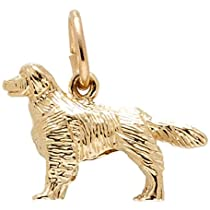 Hot Sale Rembrandt Charms Golden Retriever Charm, 14K Yellow Gold