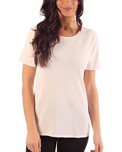 Ada Gatti Camiseta Manga Corta Blanco