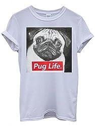 Pug Life Dog Doggie Animal Cool Funny Hipster Swag White Men Women Unisex Top T-Shirt