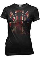 Ripple Junction Doctor Who Tardis Union Jack Glow Juniors T-shirt