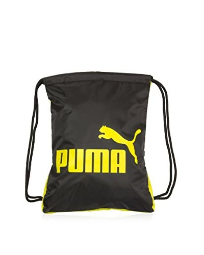 Puma Men's Forever Carry Sack Bag, Black/Yellow, One Size As You See