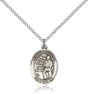 IceCarats Designer Jewelry Sterling Silver St Christopher / Karate Pendant 3/4 X 1/2 Inch