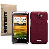 "HTC ONE X LEDER HARDSKIN H�LLE IN ROT, COVERT RETAIL VERPACKUNGvon ""COVERT"""