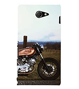 Wonderful Bike 3D Hard Polycarbonate Designer Back Case Cover for Sony Xperia M2 Dual D2302 :: Sony Xperia M2