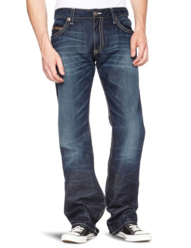 Robin's Jean Back Rivet Pocket Straight Men's Jeans Dark Wash W34INxL34IN