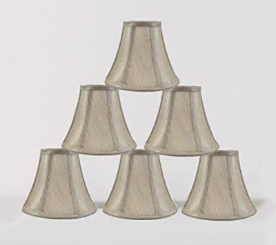 """Urbanest 1100848c 3x6x5"""" Chandelier Lamp Shade, Champagne, Set of 6"""