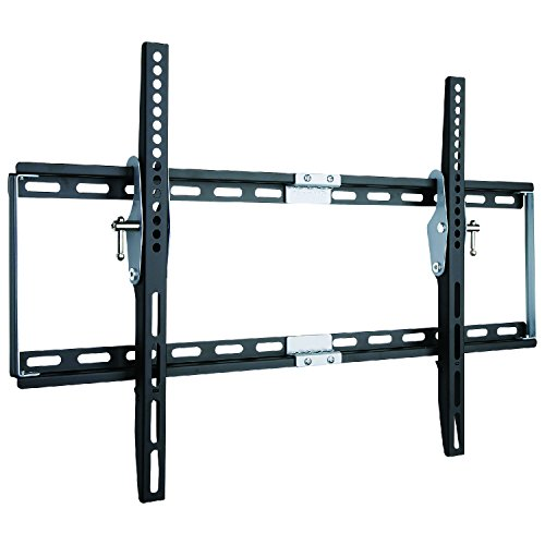 "Duronic TVB777 Heavy Duty Adjustable Black Wall Bracket For Plasma, LCD, LED Screens For 33"" - 60"" Wide Screens With Tilt down. VESA 200X200, 400X400, 600X400"