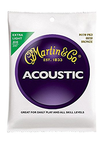 Martin 80/20 Bronze Acoustic Guitar Strings 3-PackM170 10-47