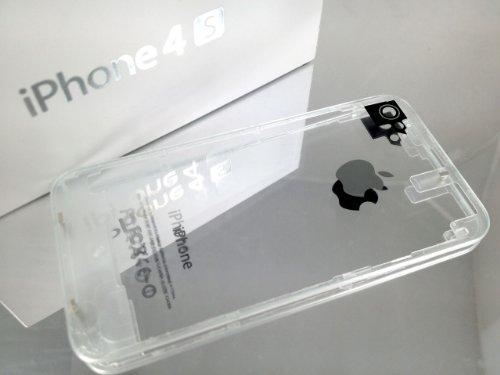 iPhone4S専用 ガラス スケルトン クリアー バックパネル 透明枠